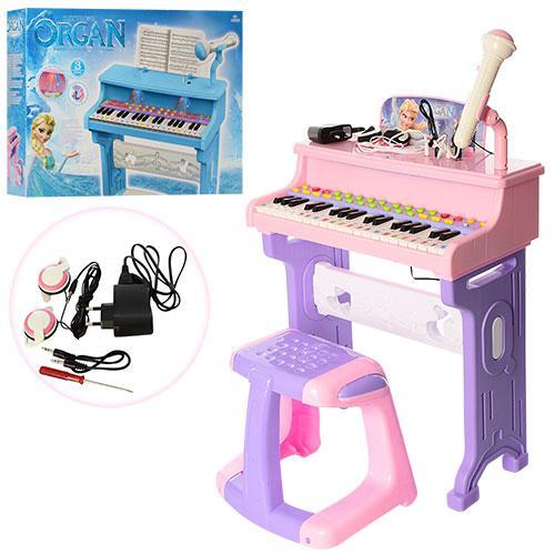 Синтезатор (пианино) со стульчиком (РОЗОВЫЙ) 8818-206CD
