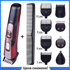 Беспроводная машинка для стрижки GEMEI GM-592 10 в 1, Триммер для носа и ушей, бороды