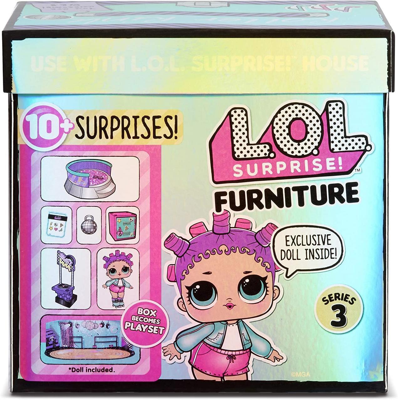 Ігровий набір L.O.L. Surprise! стильний інтер'єр Ролердром  Furniture Roller Rink with Roller Skater Doll