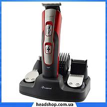 Беспроводная машинка для стрижки GEMEI GM-592 10 в 1, Триммер для носа и ушей, бороды, фото 3