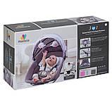 *Укачивающий центр для малышей (шезлонг, качалка, качели) арт. 8106, фото 9