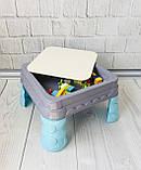 Игровой столик - песочница с конструктором арт. 555, фото 5