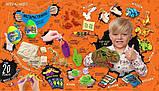 """Подарунковий набір для творчості """"Dino WOW Box"""" ПОМАРАНЧЕВИЙ арт. DWB-01-01, фото 3"""