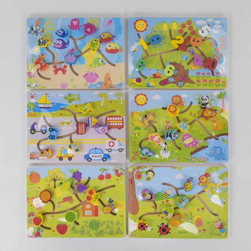 Деревянная игра  Лабиринт С 39485 (60) 6 видов
