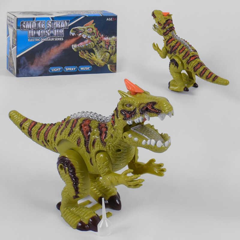 Динозавр 3863 (36/2) свет, звук, выпускает пар, в коробке
