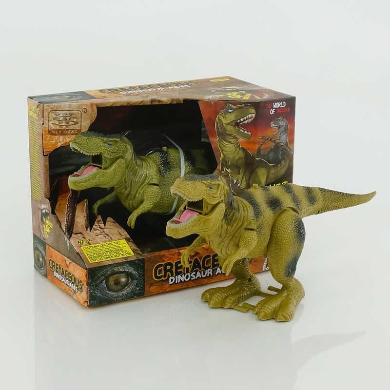 Динозавр WS 5316 (36) 2 вида, ходит, двигается рот, на батарейках, в коробке