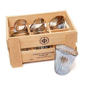 Набір 6 склянок п'яних гранованих оригінальних BST 520008 29х21х14 див. Застілля