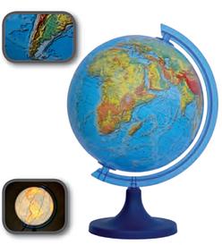 Глобус 3D з підсвічуванням 250 мм фізичний (рос.) BST 540090