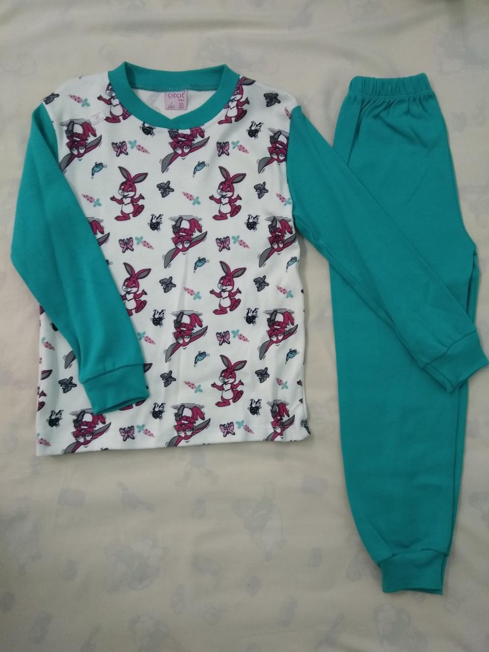 Пижама детская на девочку 6 и 7 лет.