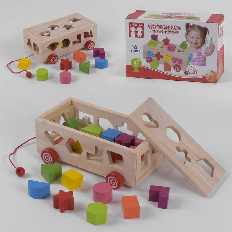 Деревянная игра Каталка С 39260 (30) в коробке