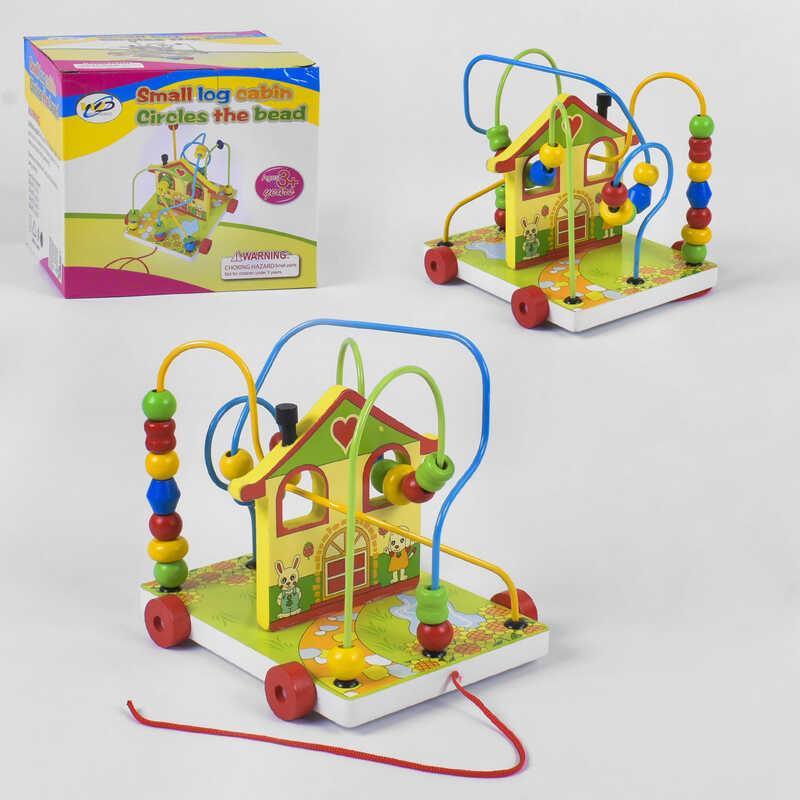 Деревянная игра Каталка-Лабиринт C 39220 (36) в коробке