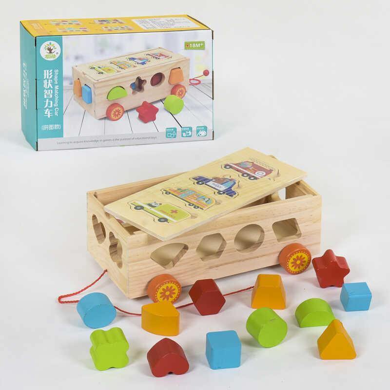 Деревянная игра Каталка-сортер С 39259 (36) в коробке