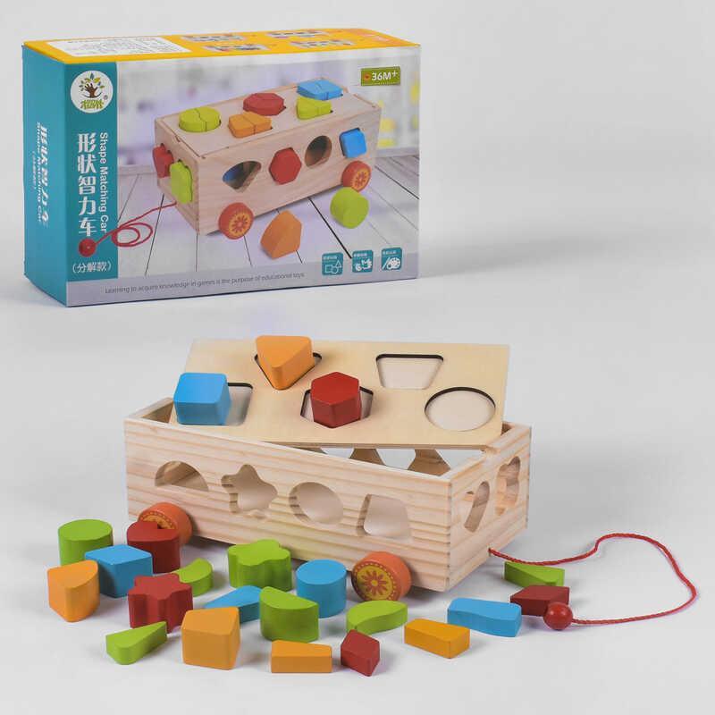 Деревянная игра Каталка-сортер С 39259 (48) в коробке