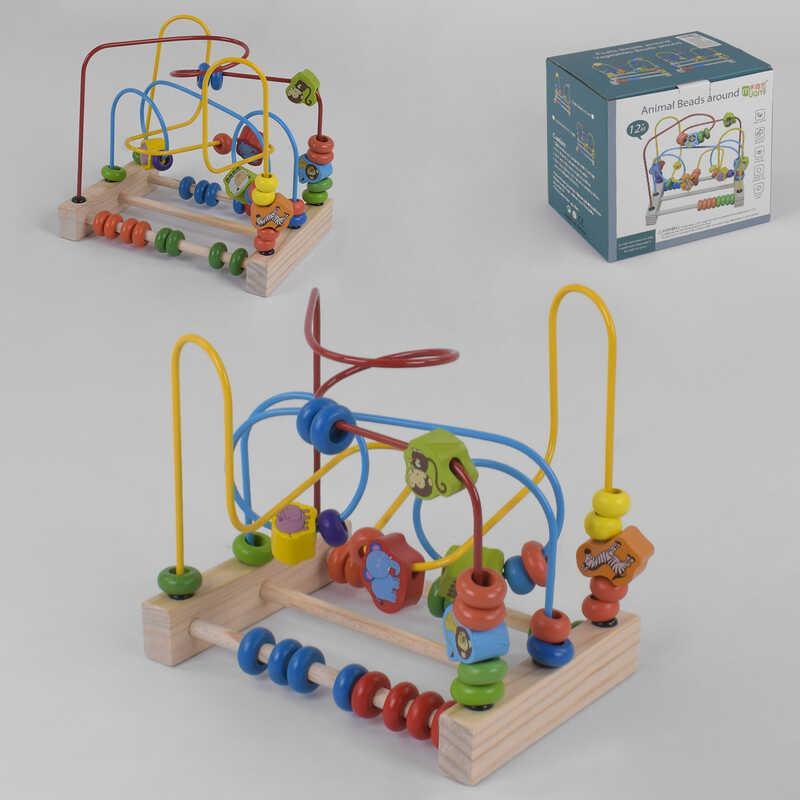 Деревянная игра лабиринт С 39204 (30) в коробке