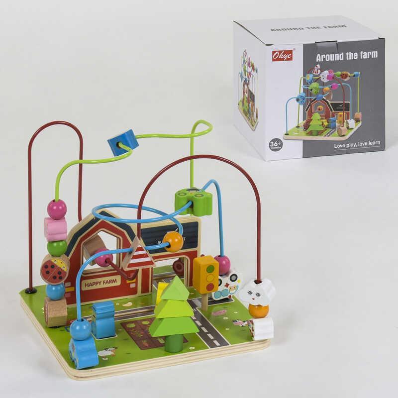 Деревянная игра Лабиринт С 39212 (12) в коробке