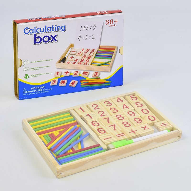 Деревянная игра Математика С 35660 (136) в коробке