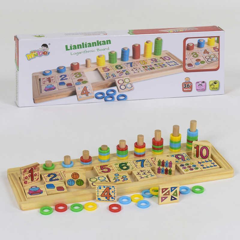 Деревянная игра Математика С 39286 (36) в коробке
