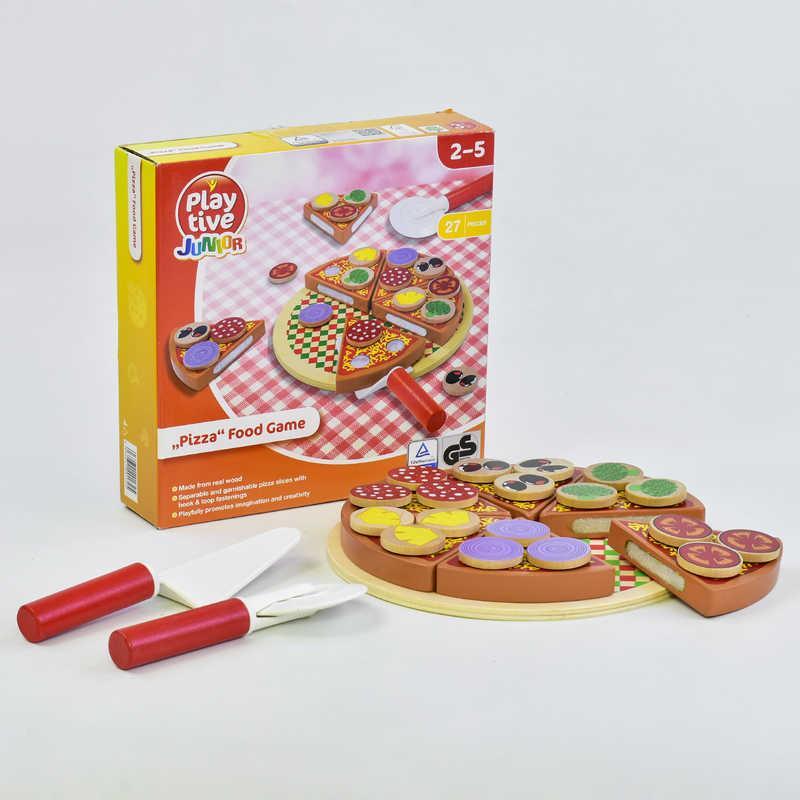 Деревянная игра Пицца на липучках С 35723 (40) в коробке