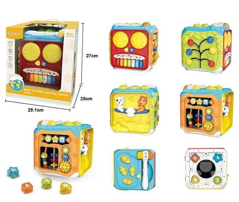 Куб музыкальный 63601 (8) свет, звук, английская озвучка, в коробке