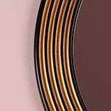 Зеркало круглое черное с золотом в прихожую/ Диаметр 690мм /Круглое зеркало в ванную/Код MD 1.1/2, фото 4