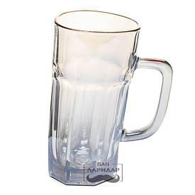 Кружка пивна незвичайна п'яна гранчаста BST 520011 0,5 л. Індивідуальність