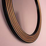 Зеркало круглое черное с золотом в прихожую/ Диаметр 690мм /Круглое зеркало в ванную/Код MD 1.1/2, фото 7