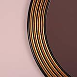 Зеркало круглое черное с золотом в прихожую/ Диаметр 690мм /Круглое зеркало в ванную/Код MD 1.1/2, фото 9