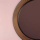 Зеркало круглое черное с золотом в прихожую/ Диаметр 690мм /Круглое зеркало в ванную/Код MD 1.1/2, фото 10