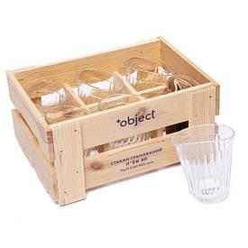 Набір 6 п'яних склянок BST 520009 29х21х14 див. оригінальних гранованих Жартівник