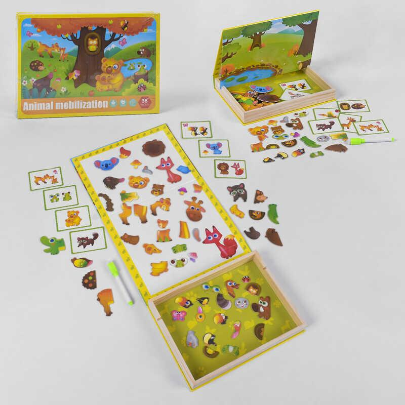 Деревянная Логическая игра B 33487 (32) магнитная, в коробке