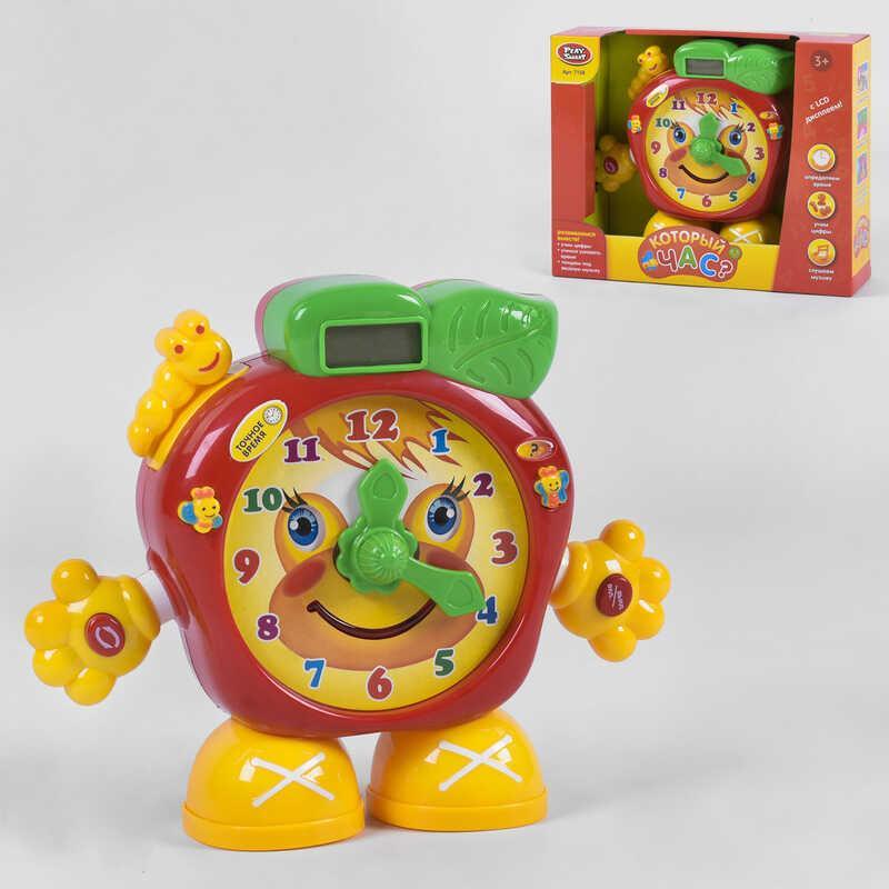 """Часы обучающие 7158 """"Который час?"""" (36/2) """"Play Smart"""", свет, звук, язык озвучки русский, в коробке"""