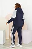Женский спортивный костюм теплый Трехнитка на флисе Размер 50 52 54 56 58, фото 6