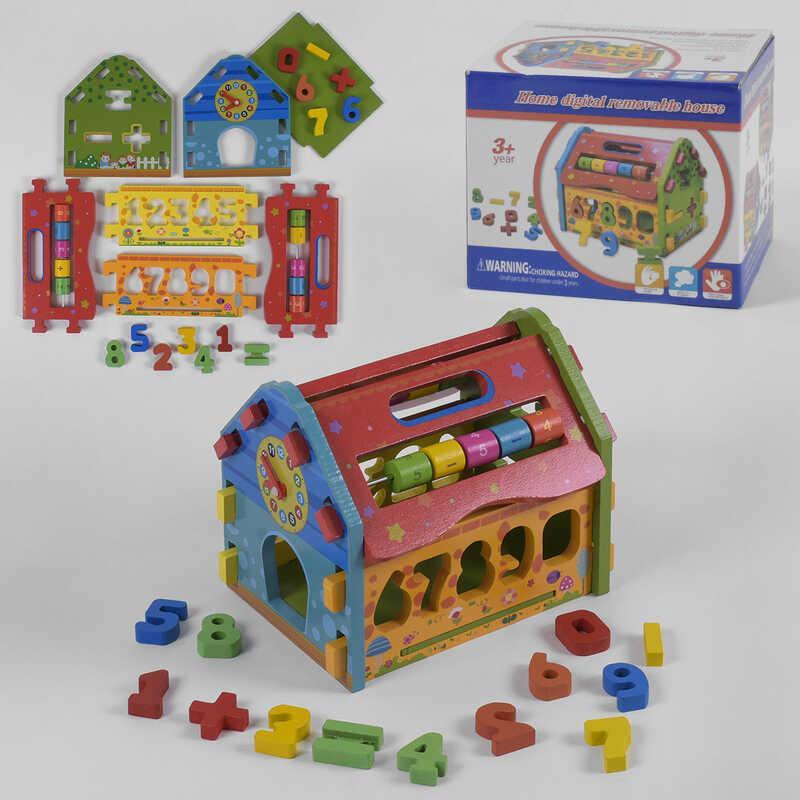 Деревянный Логический куб С 39345 (27) в коробке