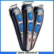 Беспроводная машинка для стрижки волос GEMEI GM-587 3в1 - аккумуляторная машинка для стрижки + триммер, фото 3