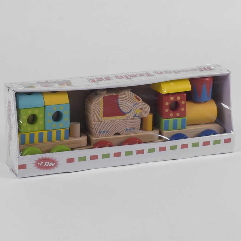 Деревянный Поезд С 39269 (28) в коробке
