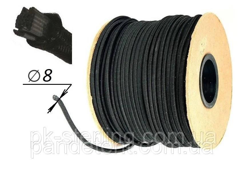 Шнур гумовий для тенту (еспандер) 8 мм (Польша) кріплення на причепи, фури для вантажних авто