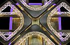 """Потолочная светодиодная люстра """"квадраты"""" 130 Вт античная бронза с подсветкой и диммером LS-3668/4+4 BR LED, фото 2"""