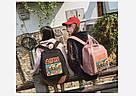 Рюкзак для девочки в японском стиле с аниме Хародзюку чёрный., фото 8