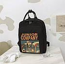 Рюкзак для девочки в японском стиле с аниме Хародзюку чёрный., фото 7