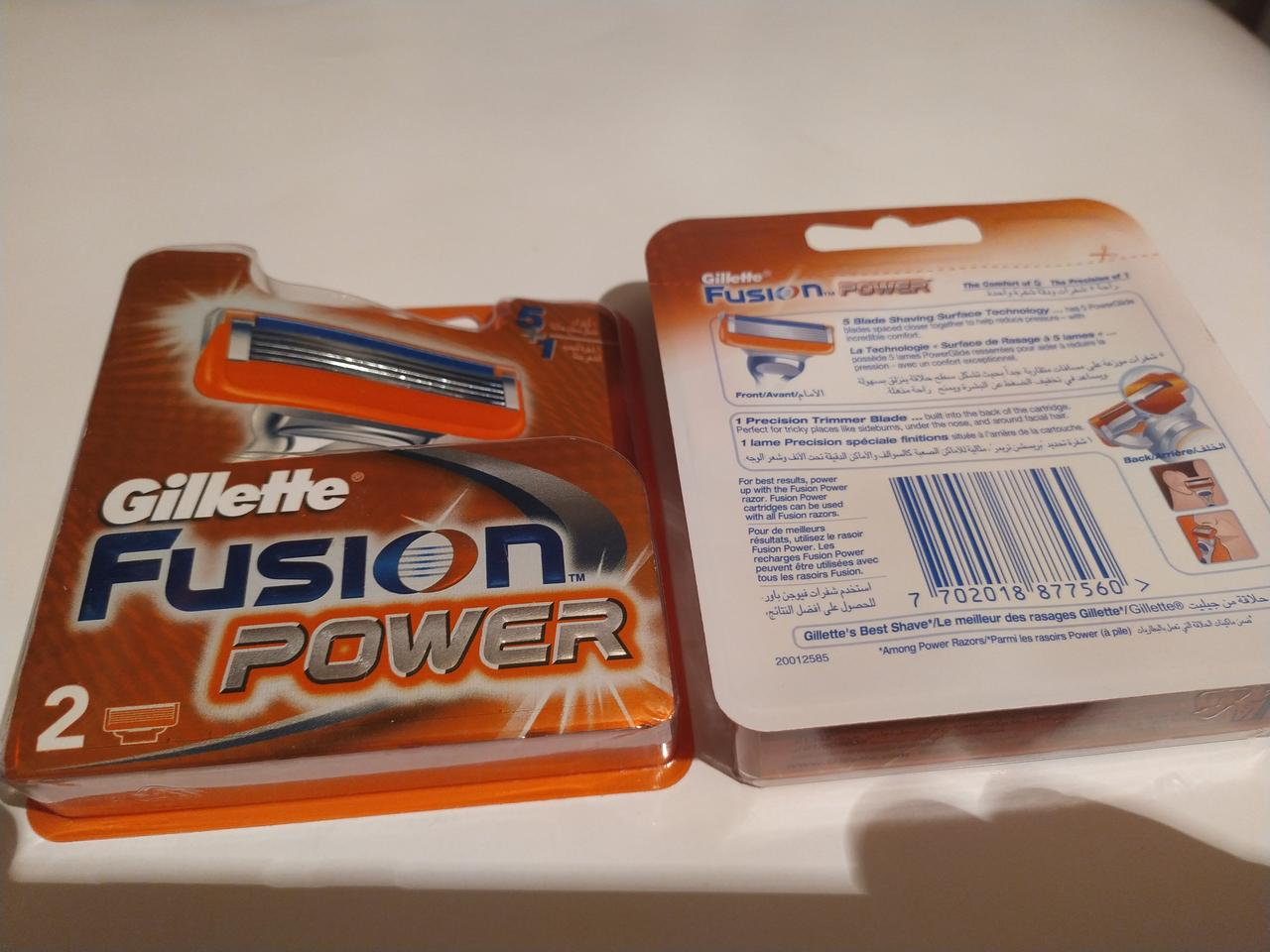 Картриджі Gillette Fusion Power 2 шт