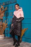 Удлиненная зимняя куртка  женская Стеганная плащевка на синтепоне Размер 48 50 52 54 Разные цвета, фото 2