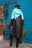 Удлиненная зимняя куртка  женская Стеганная плащевка на синтепоне Размер 48 50 52 54 Разные цвета, фото 10