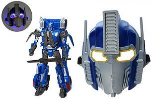 Детский игрушечный набор маска синяя трансформер Оптимус Прайм, фото 2