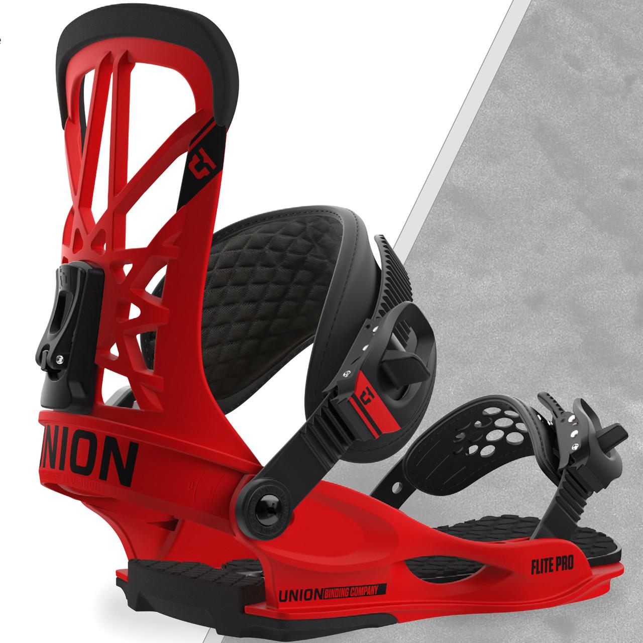 Ультра яскраві кріплення для сноуборду Union Rosa (Red)