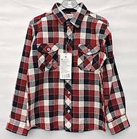 Байкова сорочка для  хлопчика  A-yugi червона  клітинка