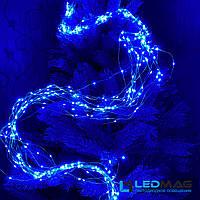 Светодиодная гирлянда Конский хвост 2,5м синий 425LED (17 нитей по 25LED) с контроллером