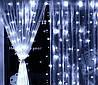 Гірлянда волосінь штора Промені Роси 3х2м Led 220В Білий світ, фото 6