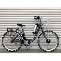 "Электровелосипед ""TOPRIDER"" 26 дюймов серый"
