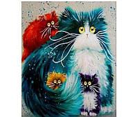 Картина по номерам 40х50 см DIY Смешные котики (NX 9300)