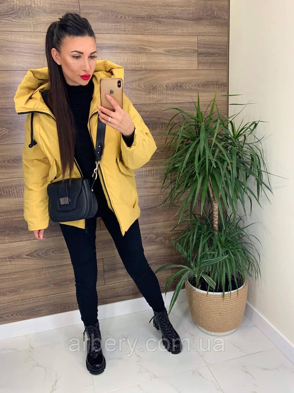 Женская зимняя куртка-пуховик на пуху